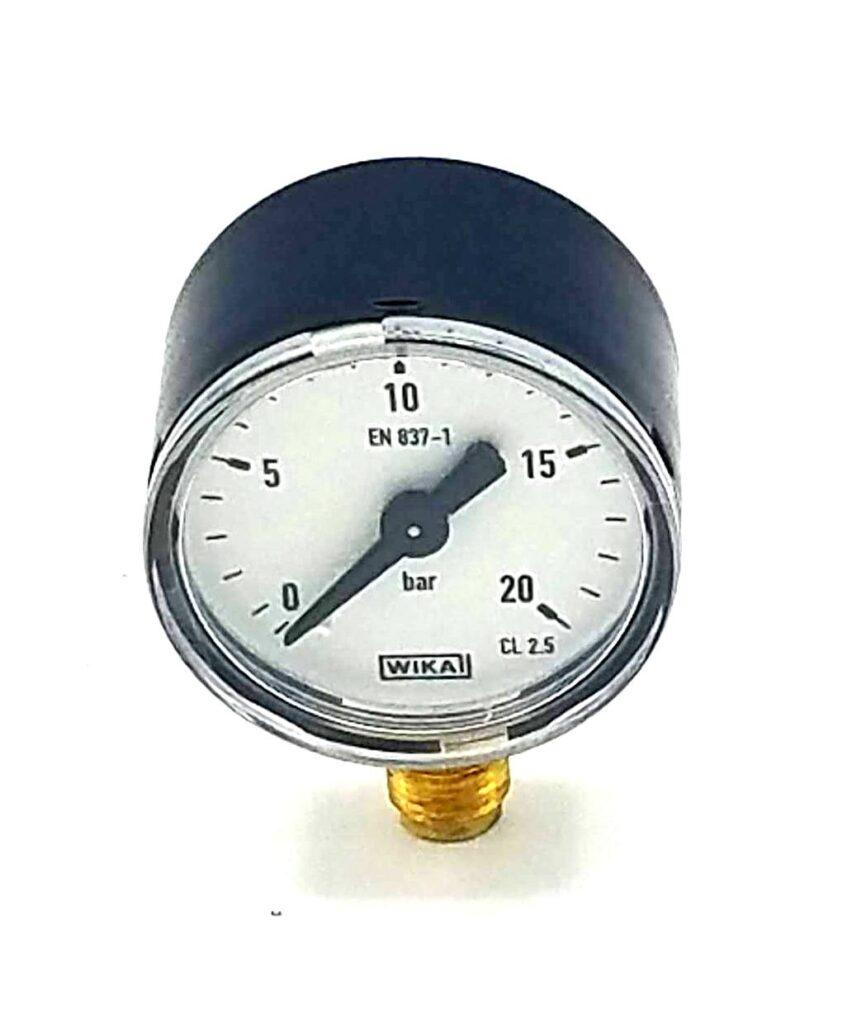 E'line Pressure Gauge 0...20bar Hydraulic Unit Eversys