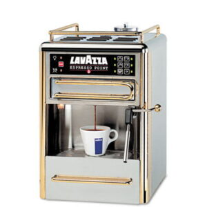 Espresso Point Matinee One-Cup Espresso Beverage System Chrome/Gold Stainless Steel By LAVAZZA