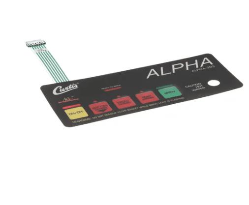 Membrane Control Panel Curtis Alpha 3DS Wilbur Curtis