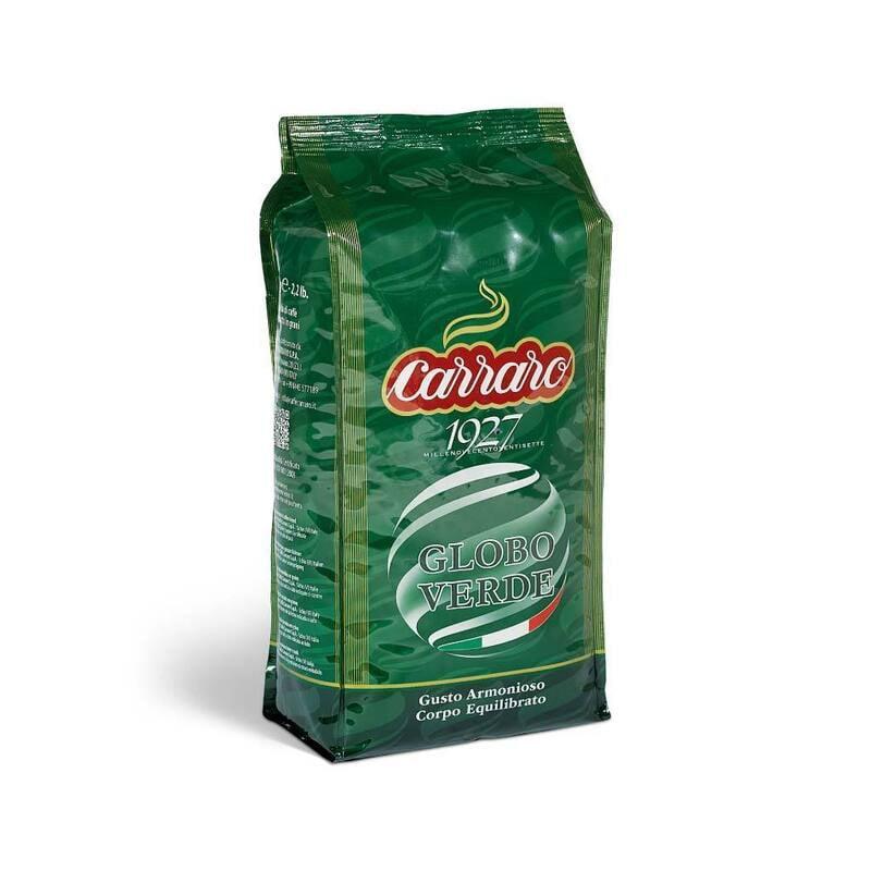 Caffe Globo Verde Espresso Beans 1000g Carraro