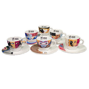 Cups Espresso Set Las Vegas Designer 6 Ea.