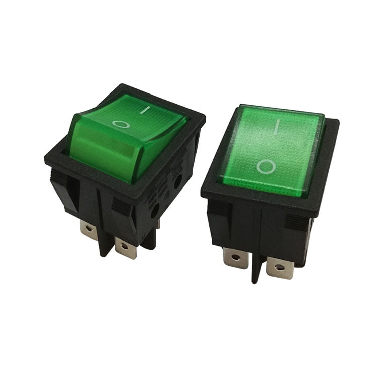 Switch Green On/Off 16A 250VAC Casadio