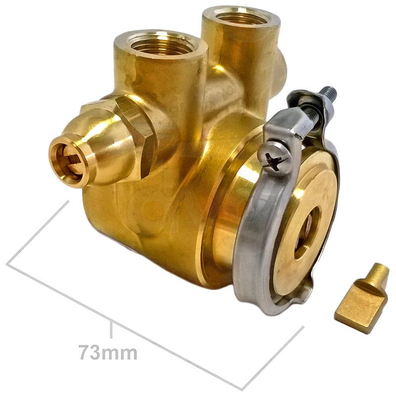 Pump Rotary Vane Clamp-Ring 100L/H Balanced By-Pass Compact-Shaft CA101 Fluid-o-Tech