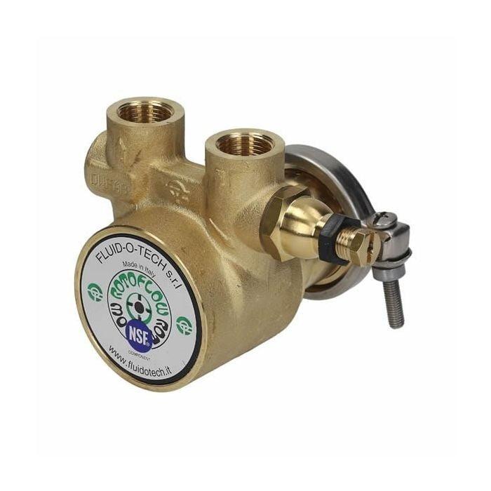 Pump Rotary Vane Clamp-Ring 100L/H Balanced By-Pass Small-Shaft PA104 Fluid-o-Tech