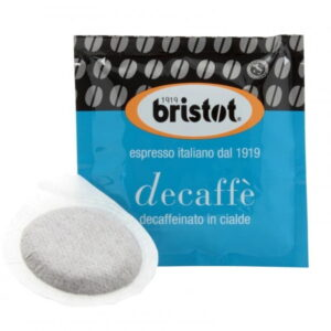 Bristot Decaffeinated PODS 7gm/150ct. ESE Imported from Italy